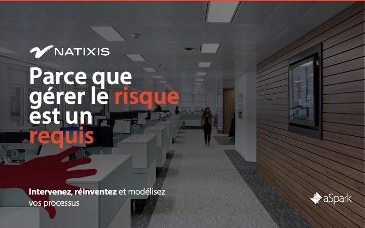 Natixis | Modélisation des processus - Référence Client aSpark Consulting - Natixis | Parce que gérer le risque est un requis.